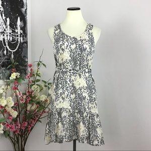 Joie Silk Animal Print Belted Dress
